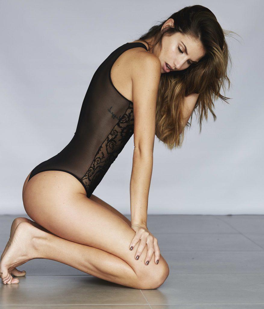 Brunette Model Sexy Figure